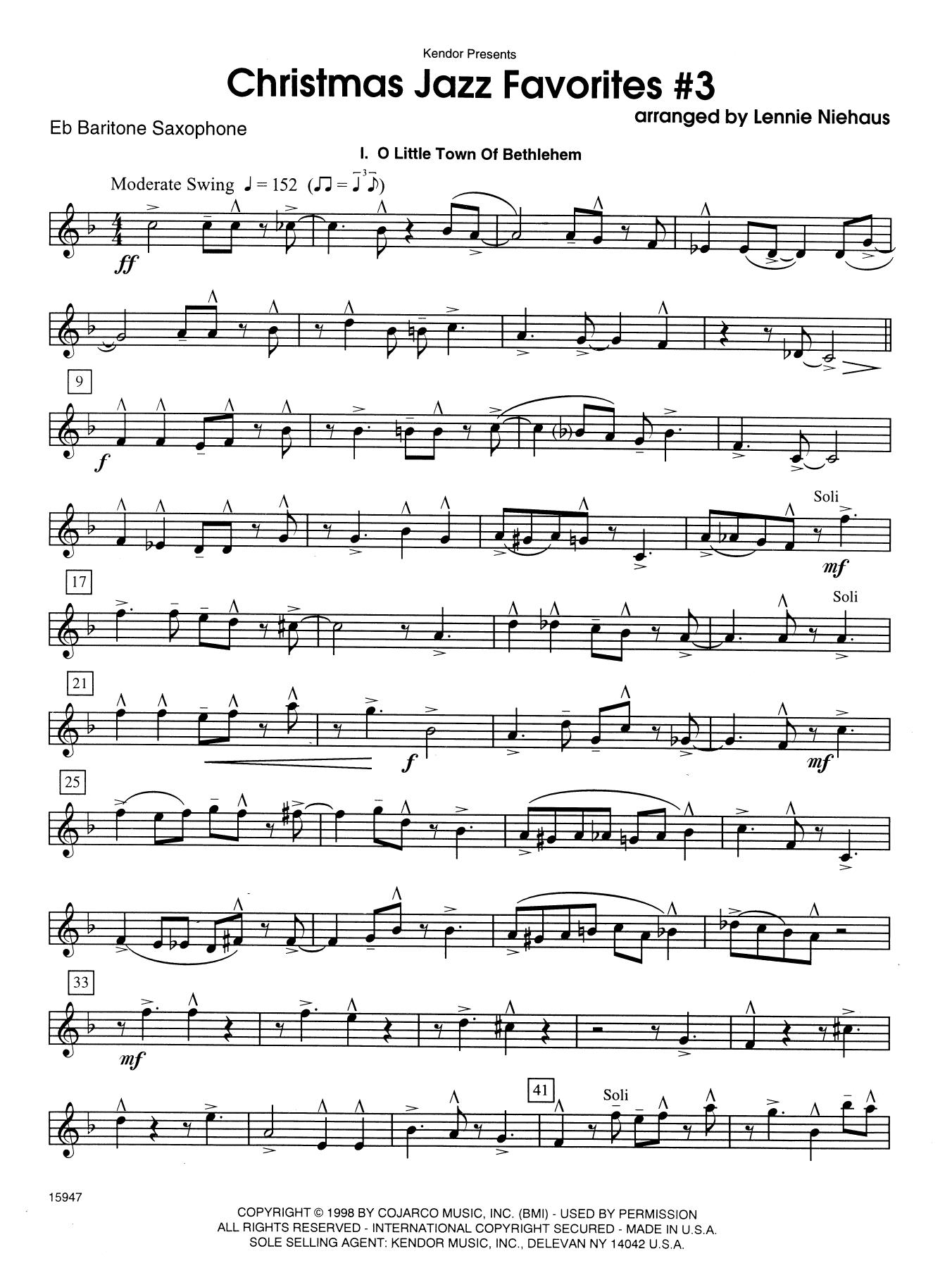 Christmas Jazz Favorites #3 - Eb Baritone Saxophone Sheet Music