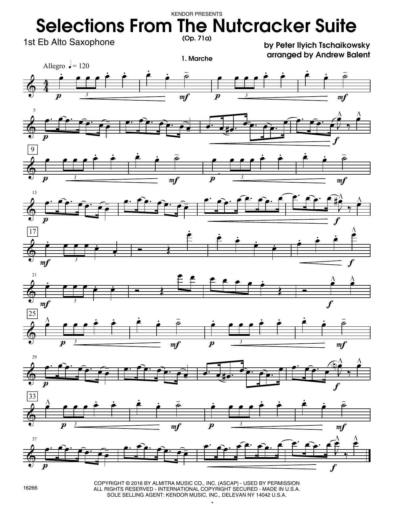Selections From The Nutcracker Suite (Op. 71A) - 1st Eb Alto Saxophone Sheet Music