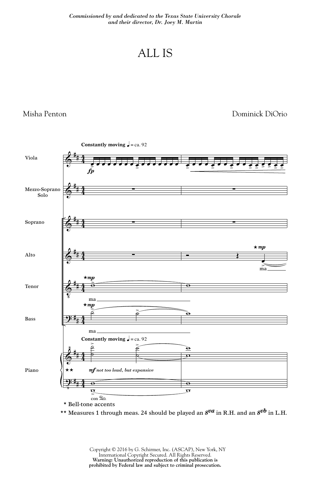 All Is Sheet Music