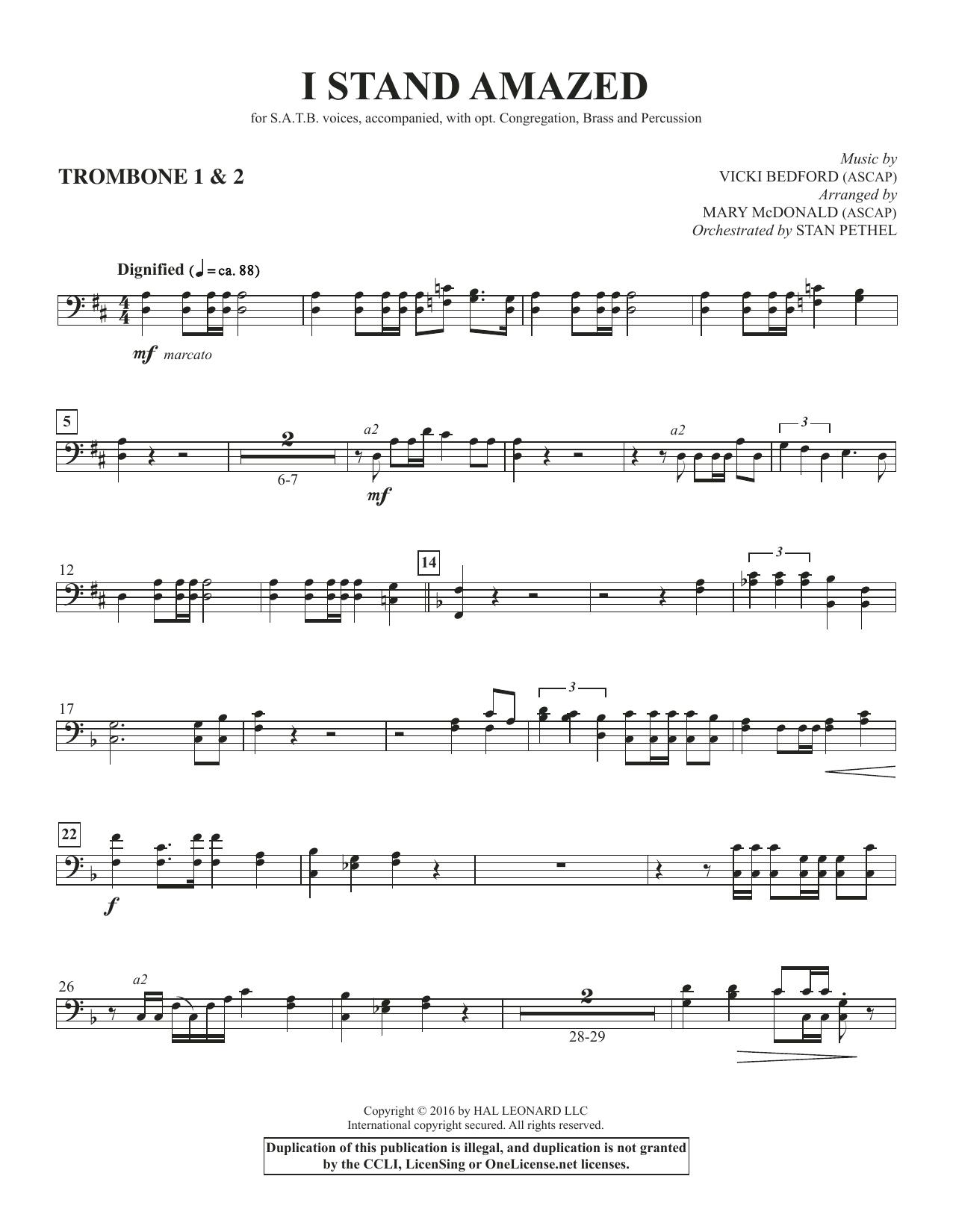 I Stand Amazed - Trombone 1 & 2 Sheet Music
