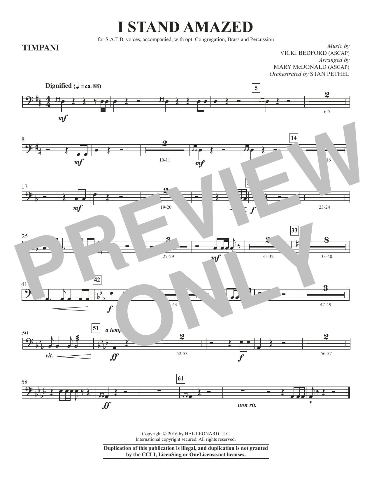 I Stand Amazed - Timpani Sheet Music