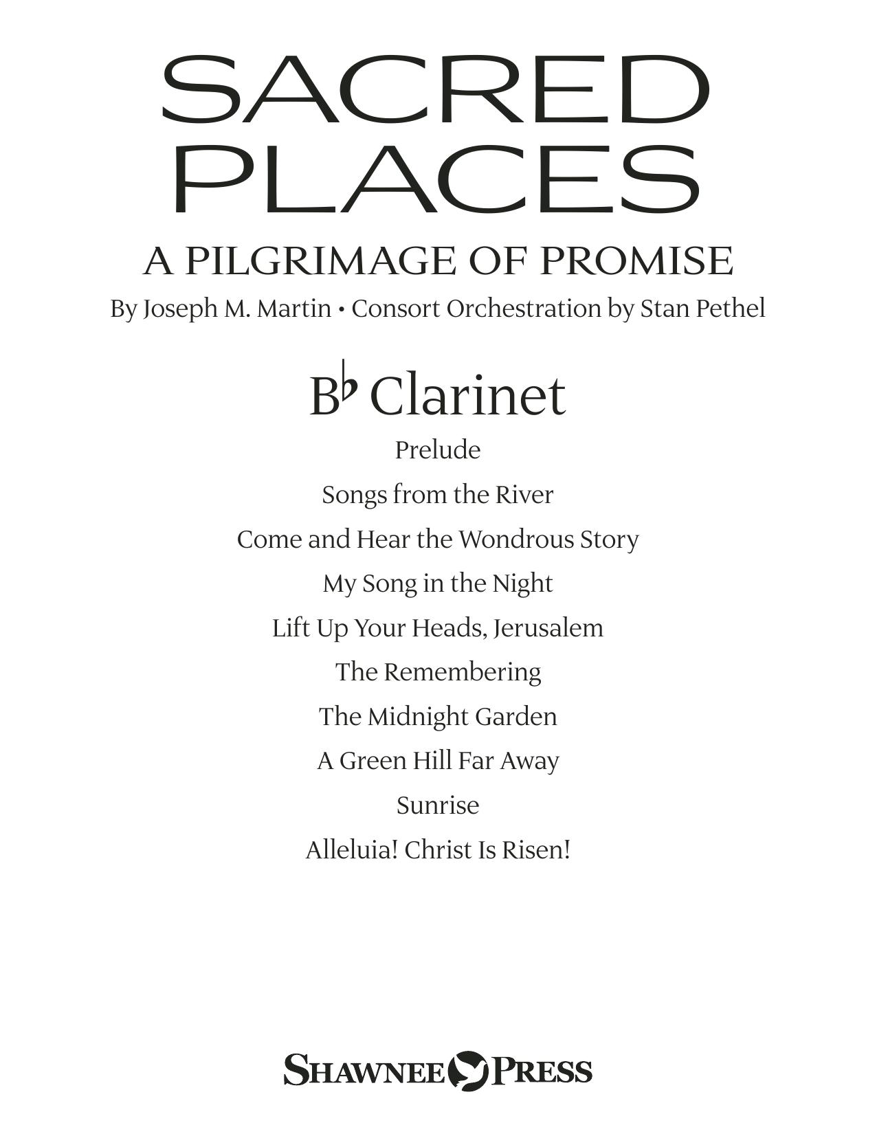 Sacred Places - Bb Clarinet Sheet Music