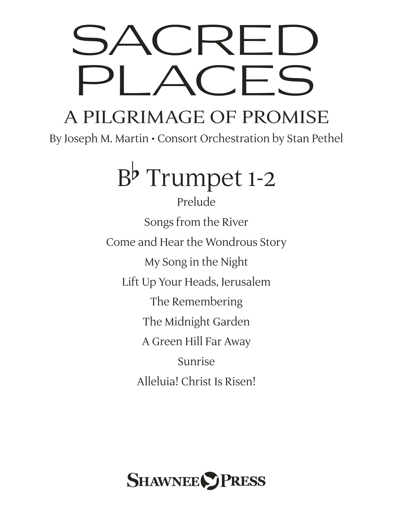 Sacred Places - Bb Trumpet 1,2 Sheet Music