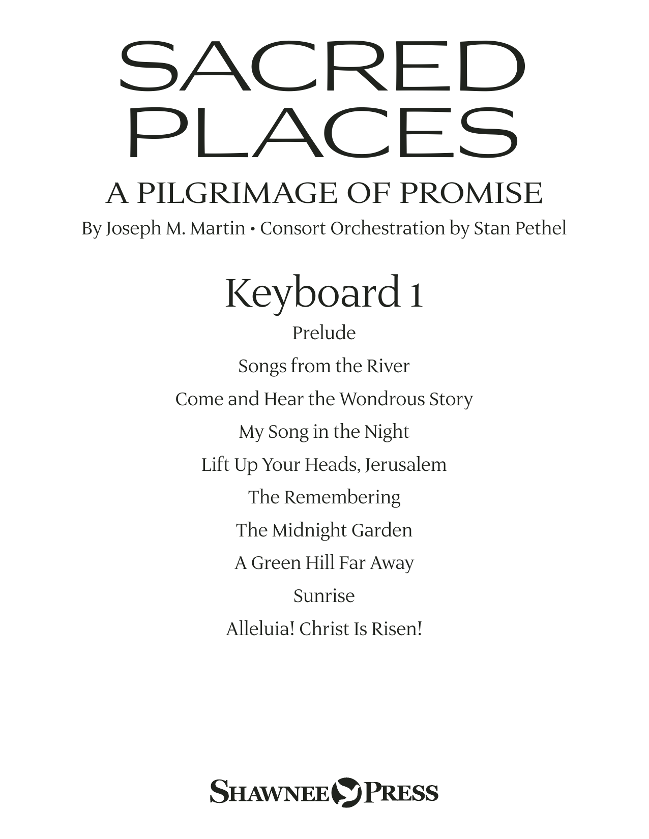 Sacred Places - Keyboard 1 Sheet Music