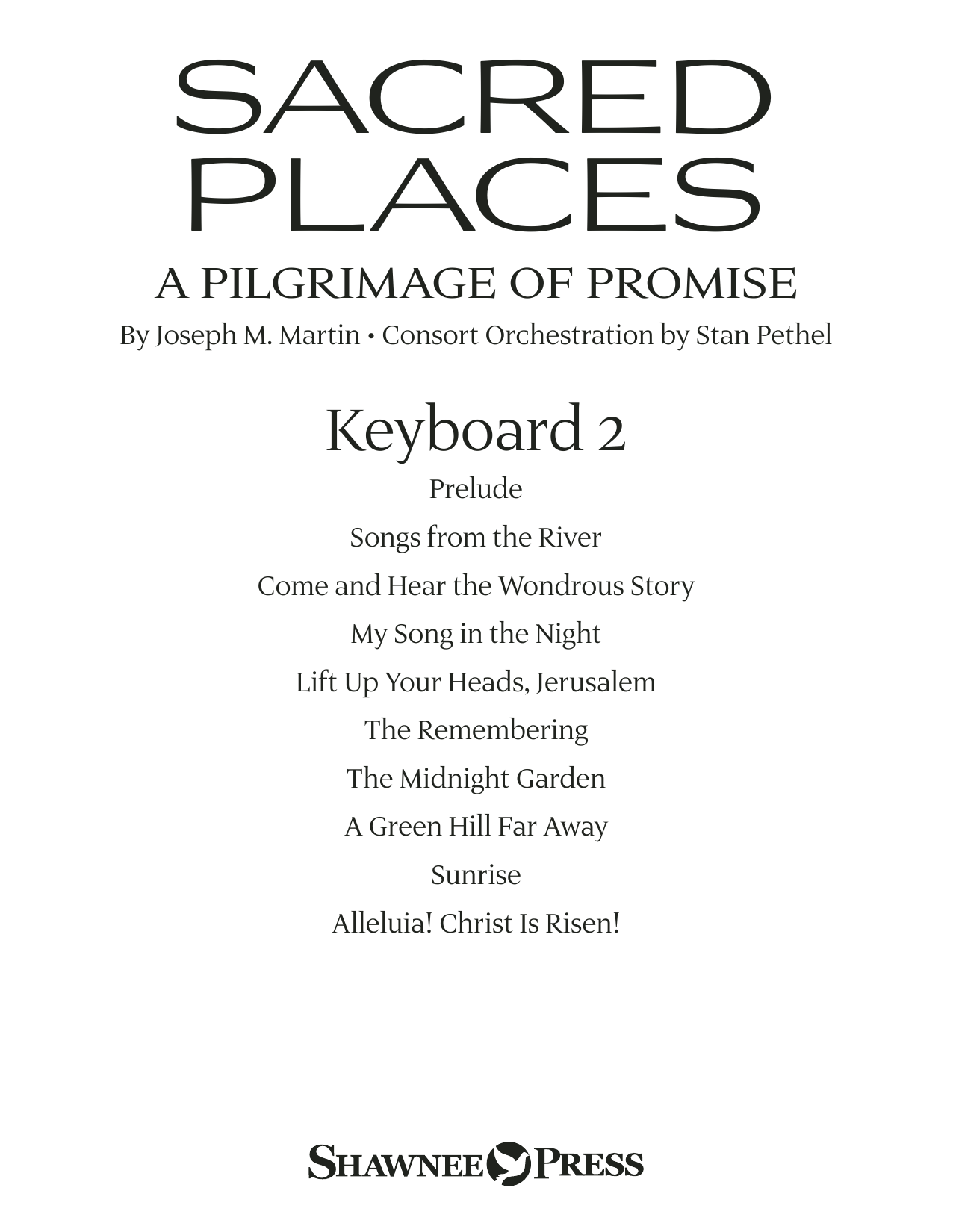 Sacred Places - Keyboard 2 Sheet Music