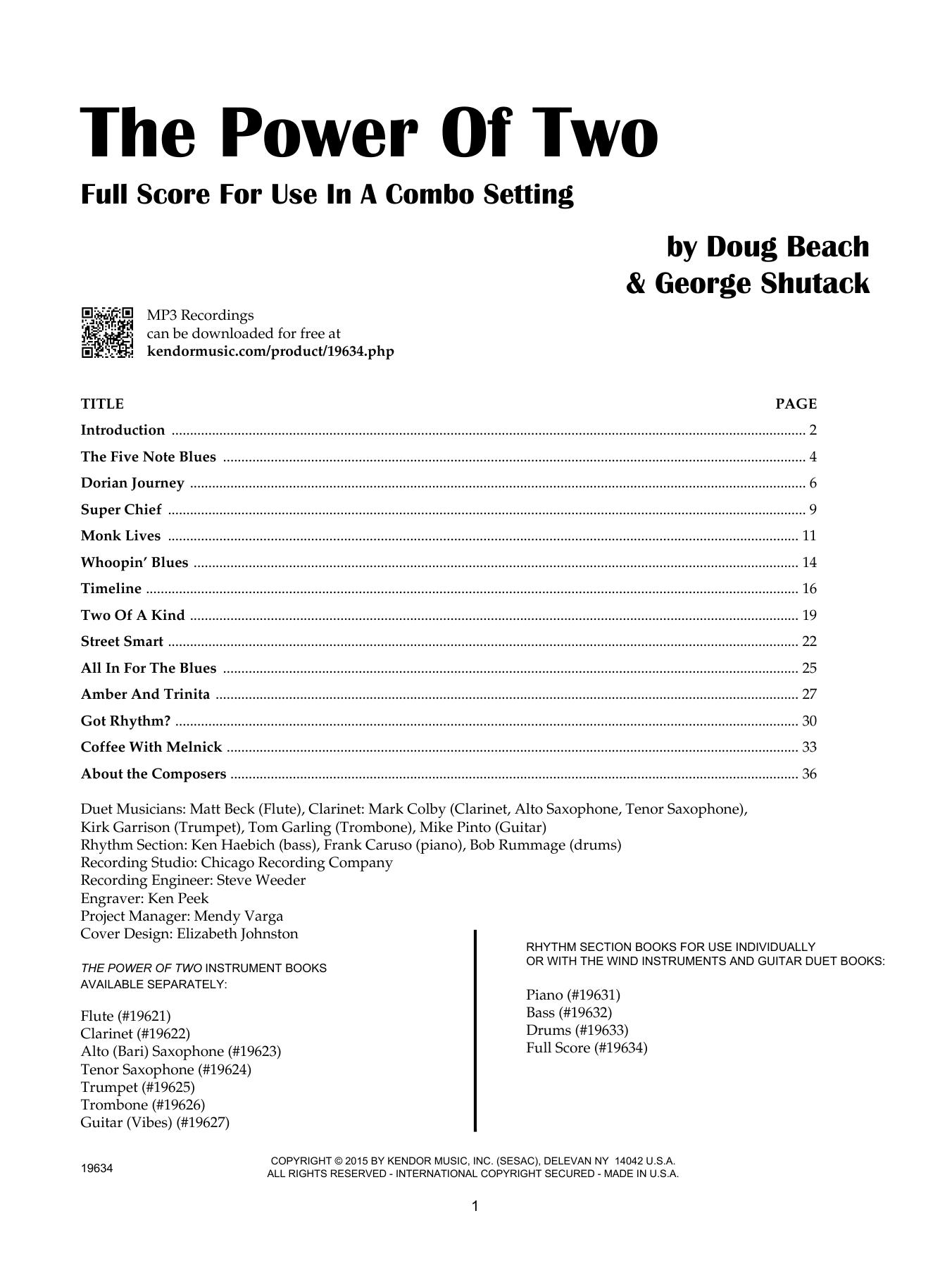 The Power Of Two - Full Score - Full Score Sheet Music