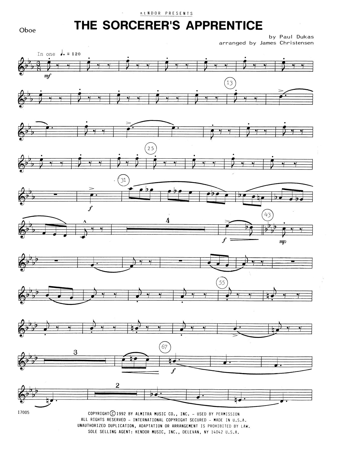 The Sorcerer's Apprentice - Oboe Sheet Music