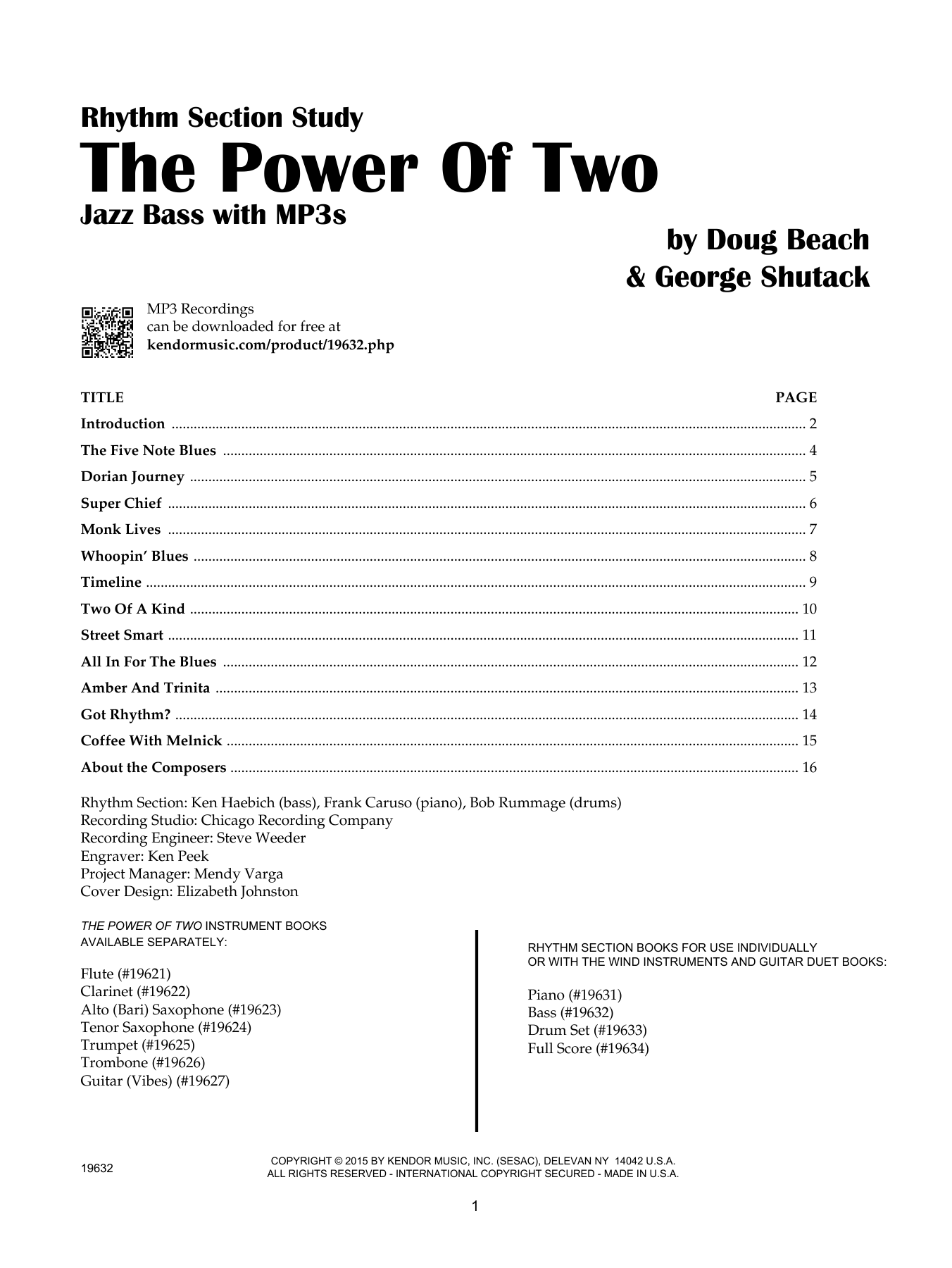 The Power Of Two - Bass - Bass Sheet Music