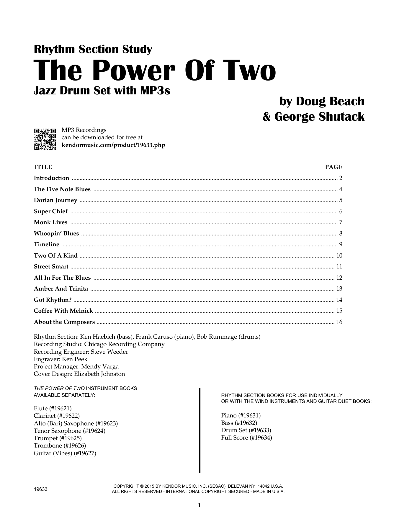 The Power Of Two - Drum Set - Drum Set Sheet Music