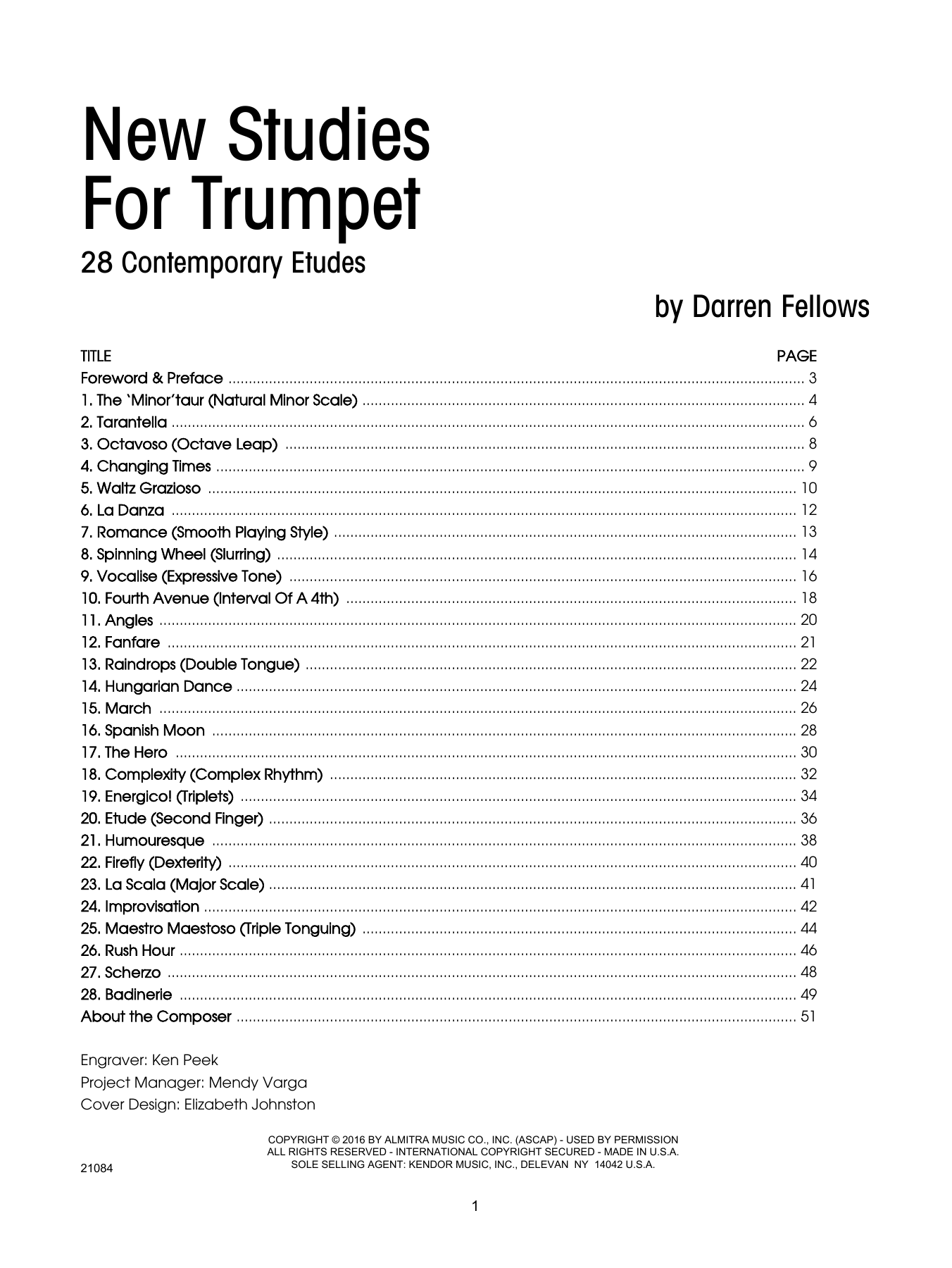 New Studies For Trumpet, 28 Contemporary Etudes Partituras Digitales