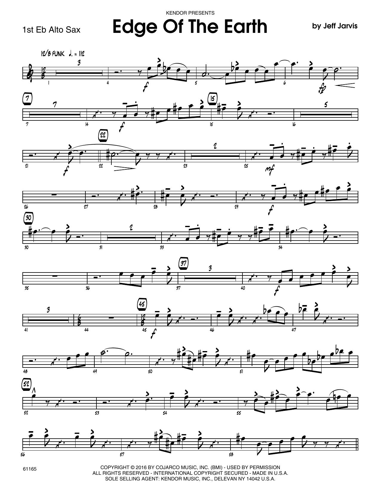 Edge Of The Earth - 1st Eb Alto Saxophone Sheet Music