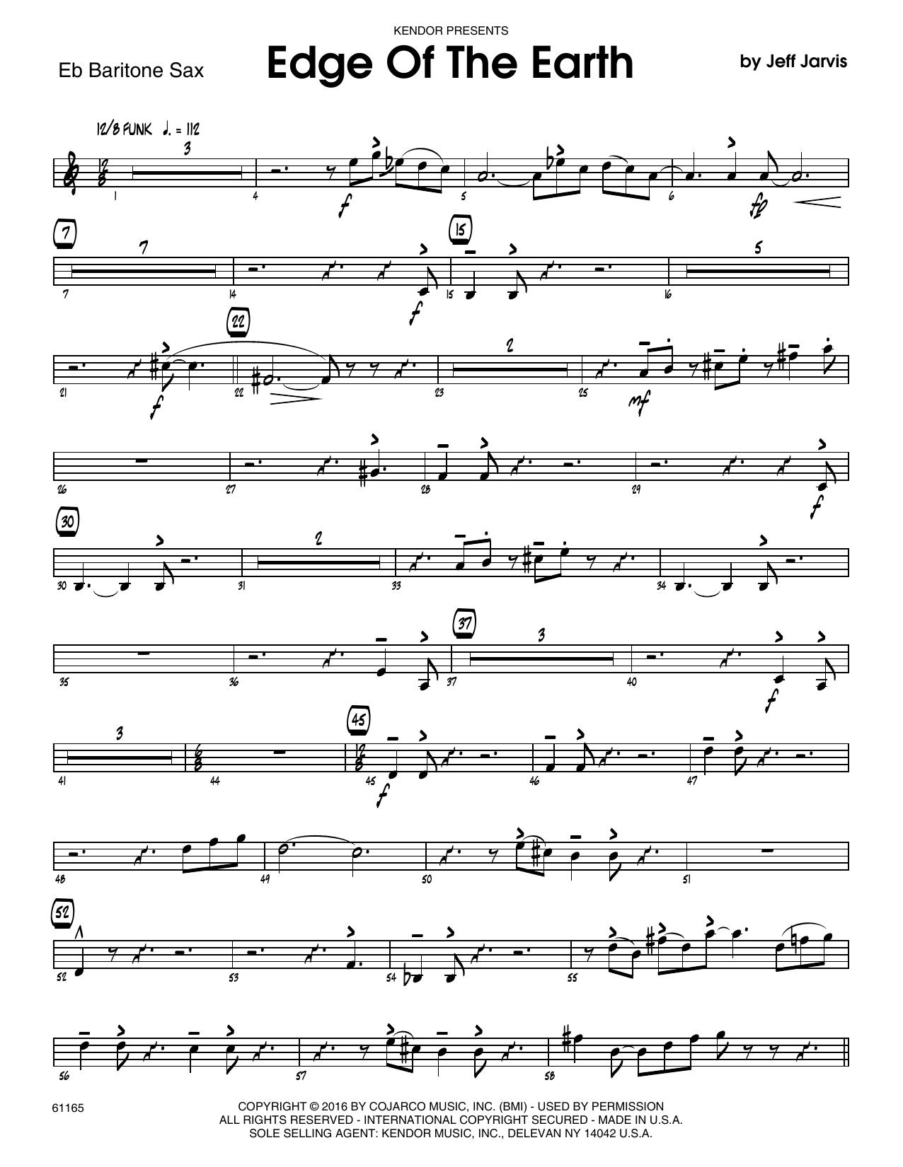 Edge Of The Earth - Eb Baritone Saxophone Sheet Music