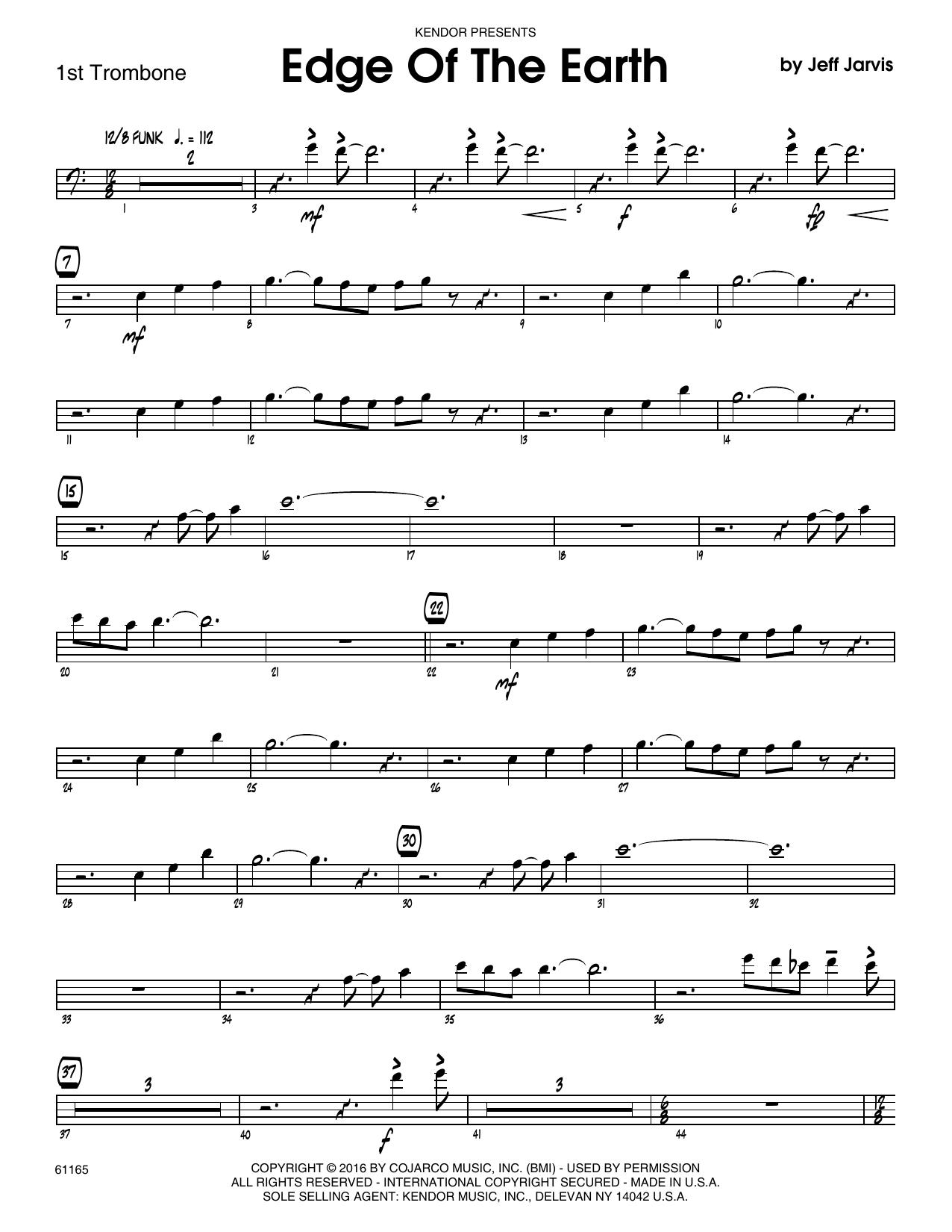 Edge Of The Earth - 1st Trombone Sheet Music