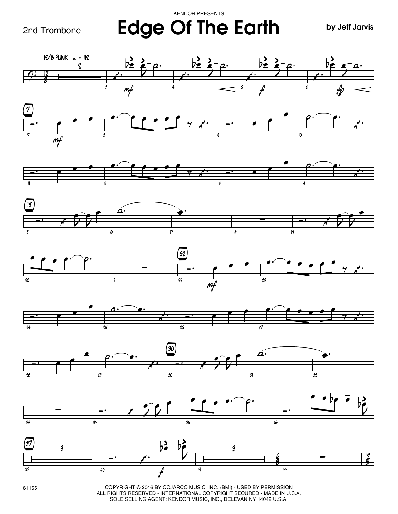 Edge Of The Earth - 2nd Trombone Sheet Music