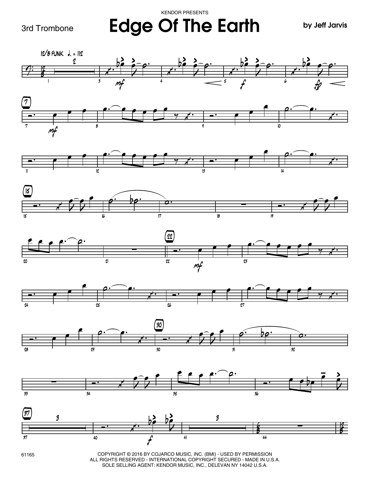 Edge Of The Earth - 3rd Trombone Sheet Music
