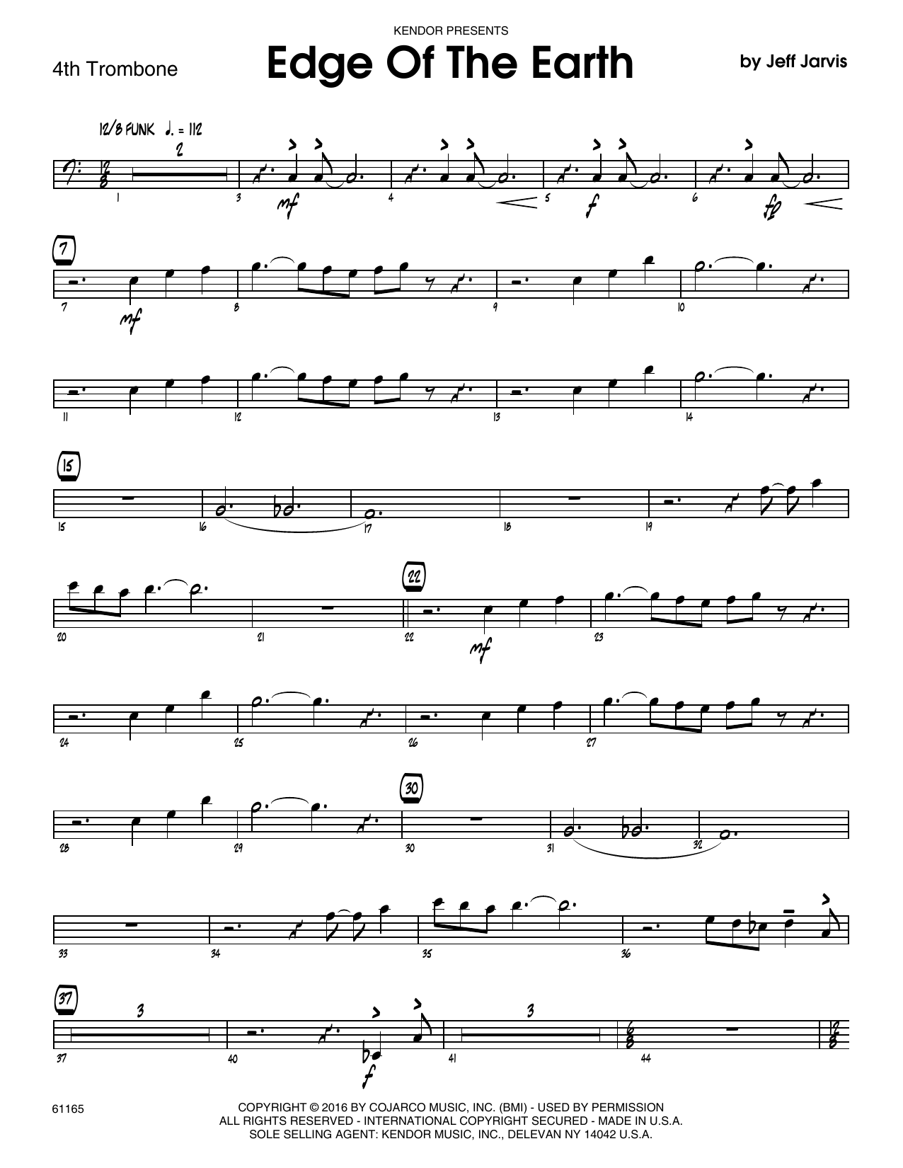 Edge Of The Earth - 4th Trombone Sheet Music