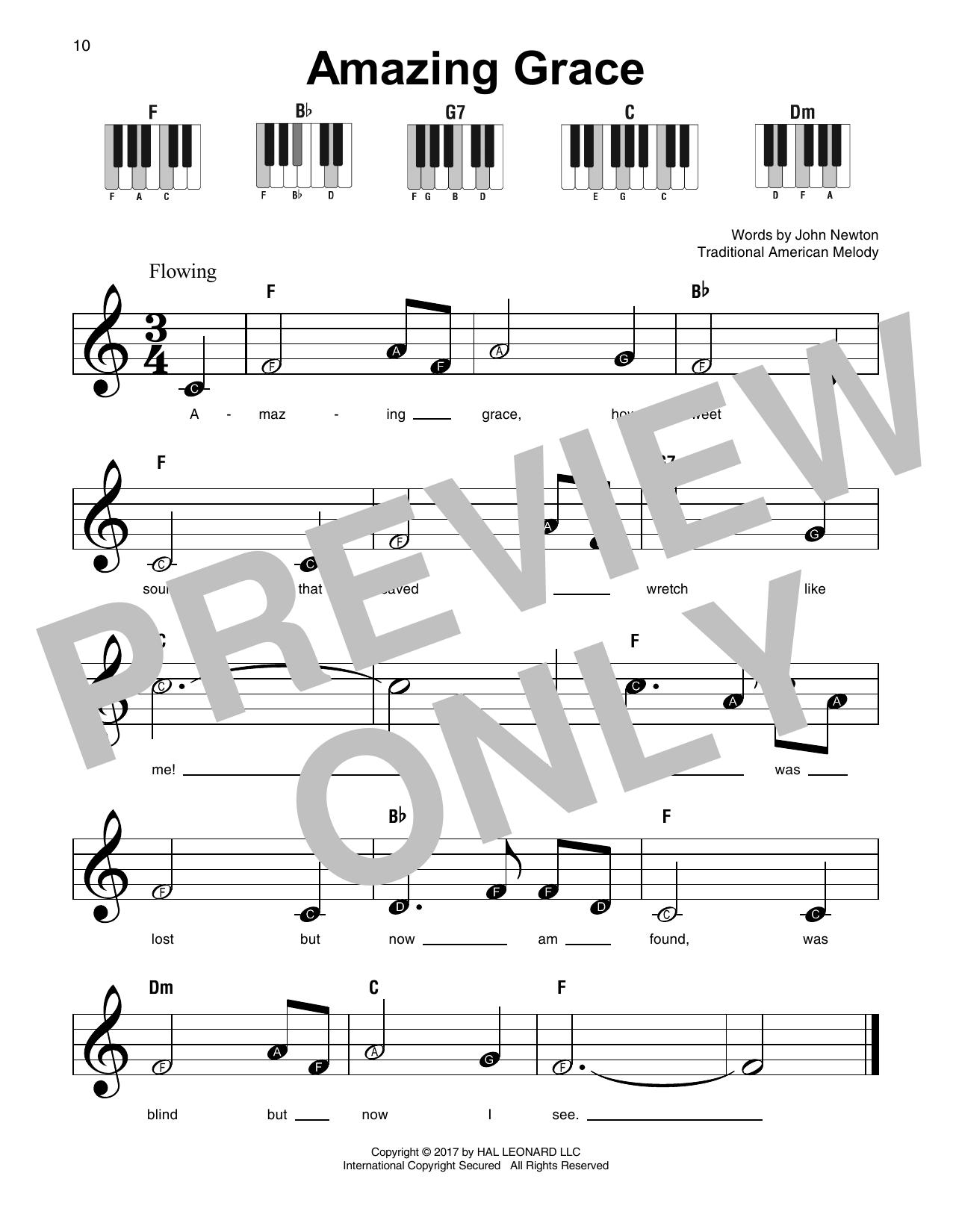 Amazing Grace (Super Easy Piano)