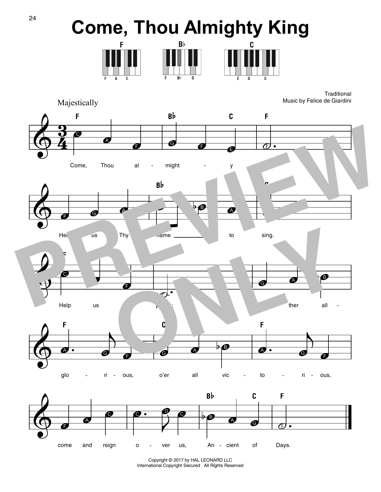 Come, Thou Almighty King Sheet Music