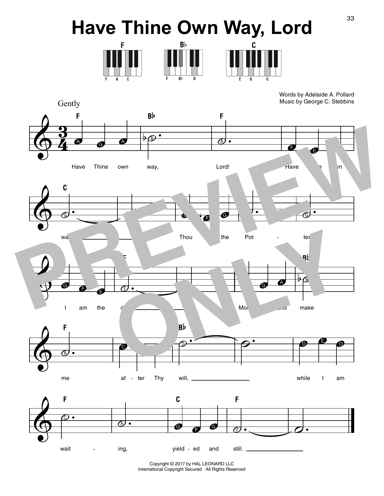 Have Thine Own Way, Lord Sheet Music