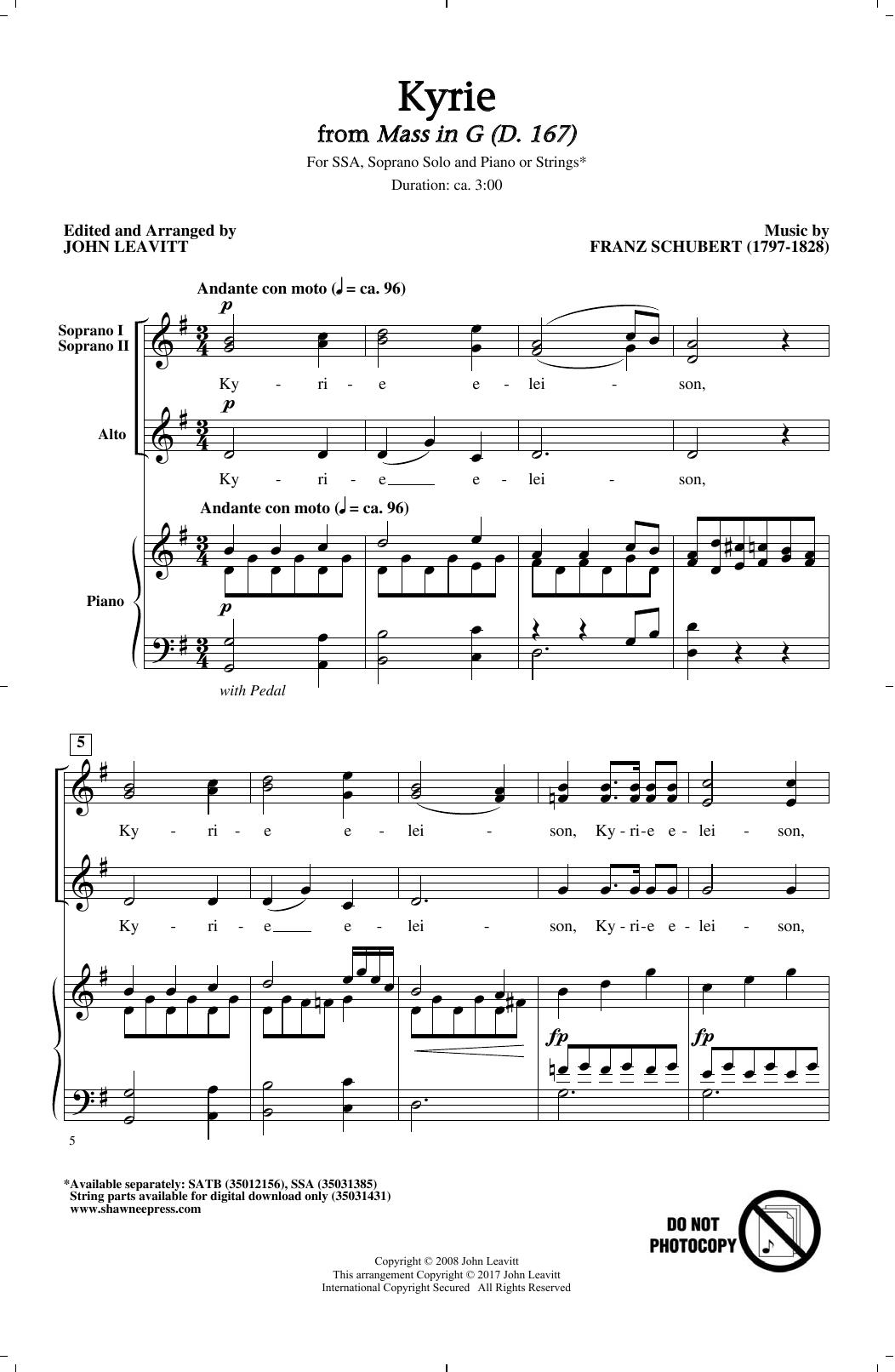 Kyrie Sheet Music