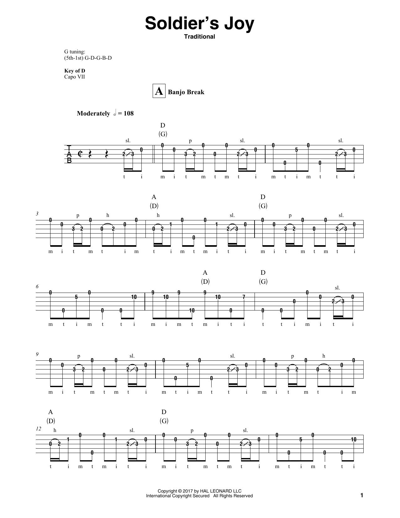 Soldier's Joy Sheet Music