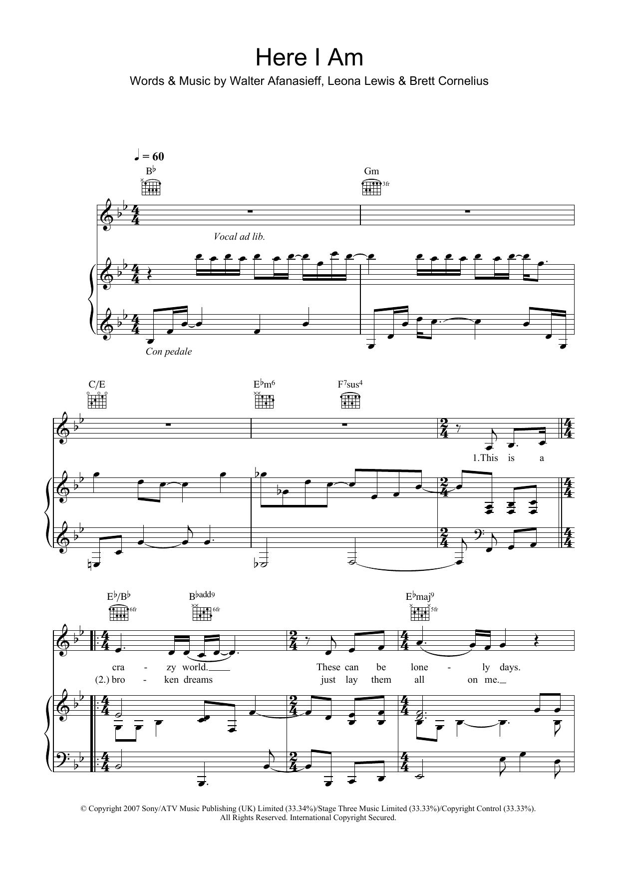 Here I Am (Piano, Vocal & Guitar)