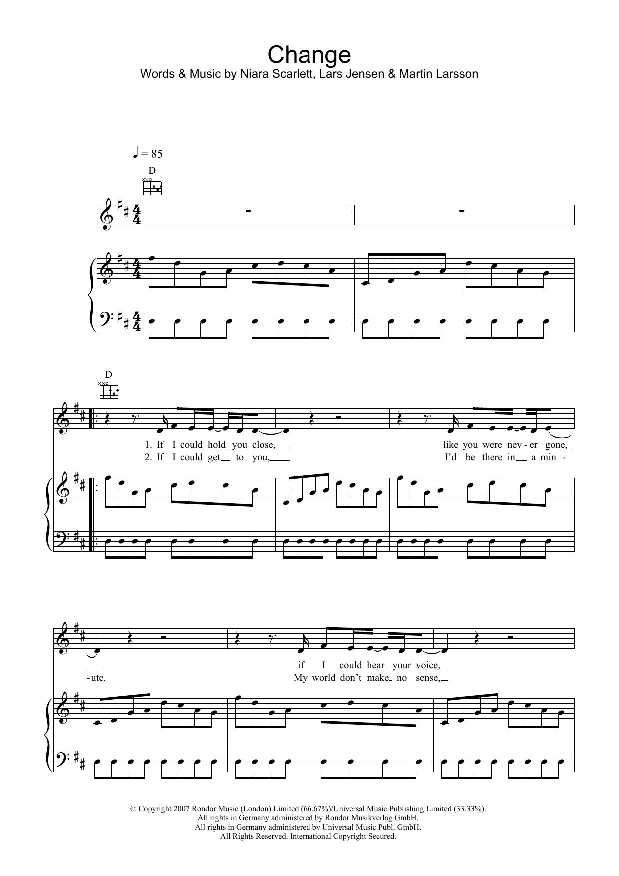 Change (Piano, Vocal & Guitar)