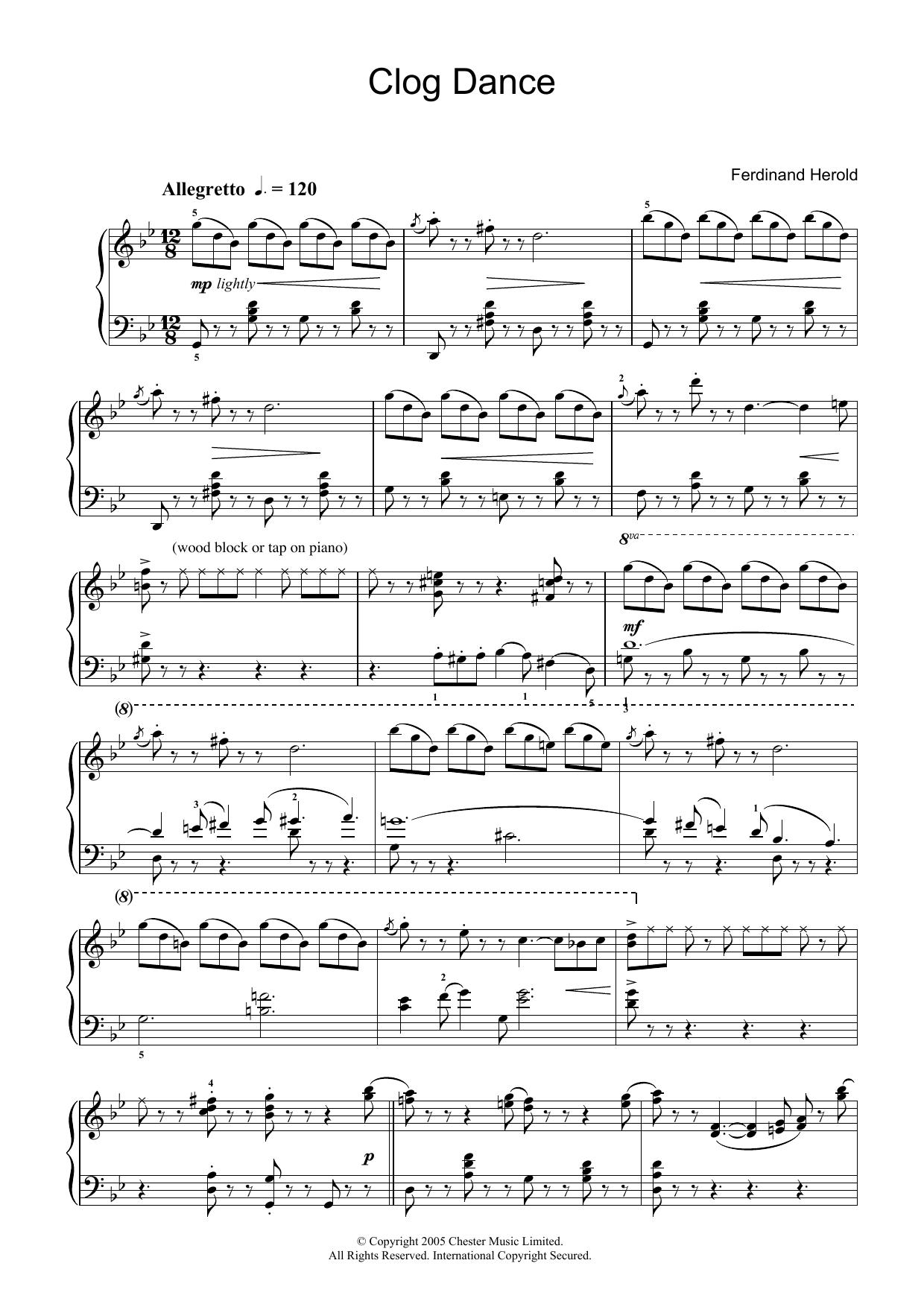 Clog Dance from La Fille Mal Gardée Sheet Music
