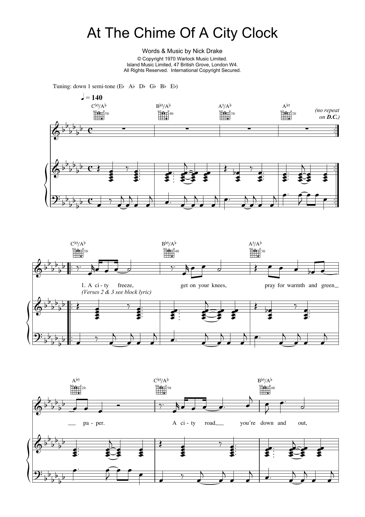 At The Chime Of A City Clock Sheet Music