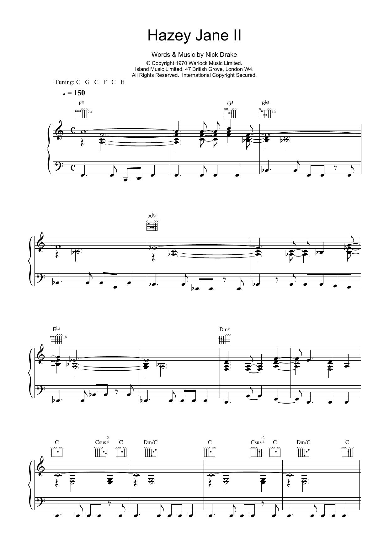 Hazey Jane II Sheet Music
