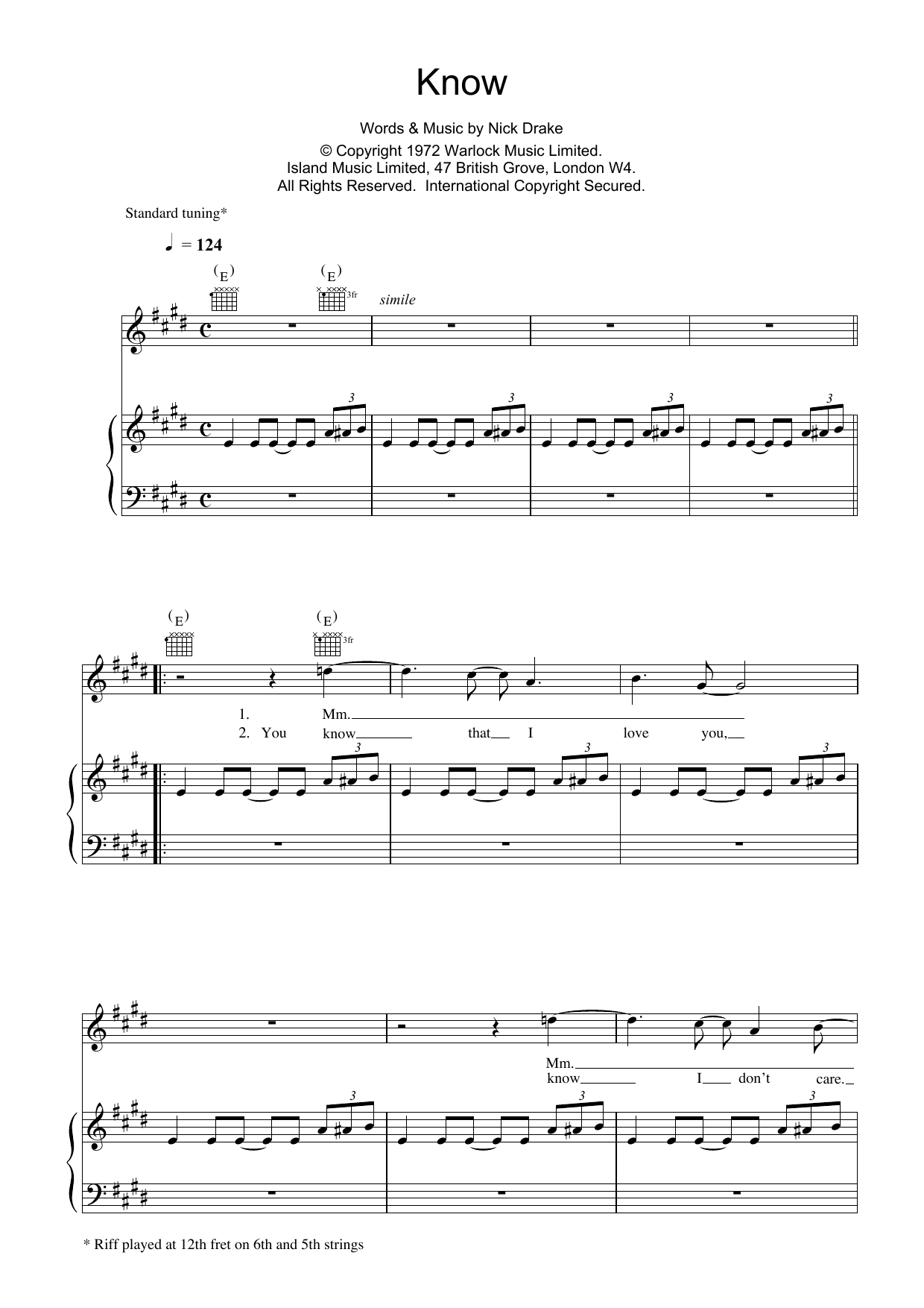 Know Sheet Music