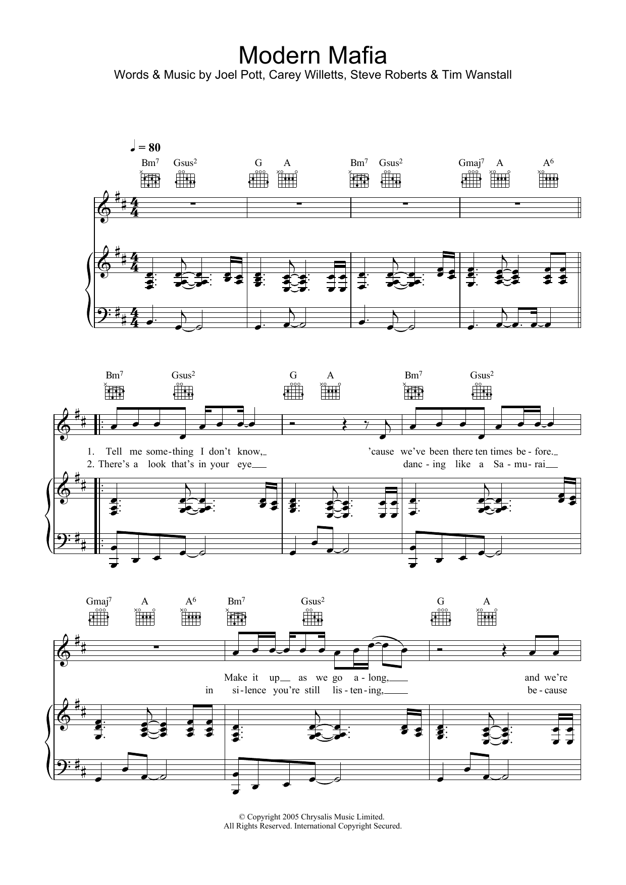 Modern Mafia Sheet Music