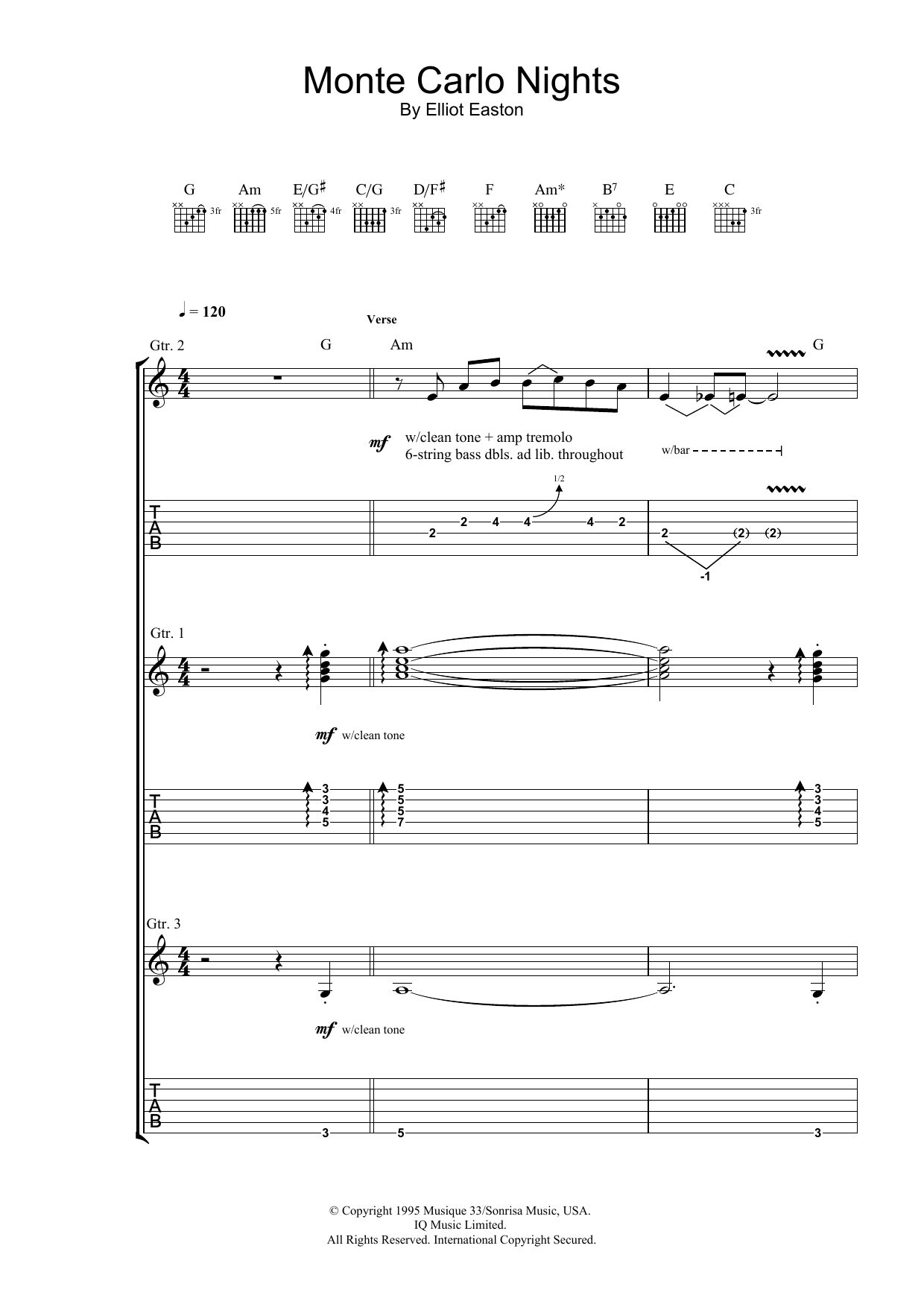 Monte Carlo Nights (from Jackie Brown) Sheet Music