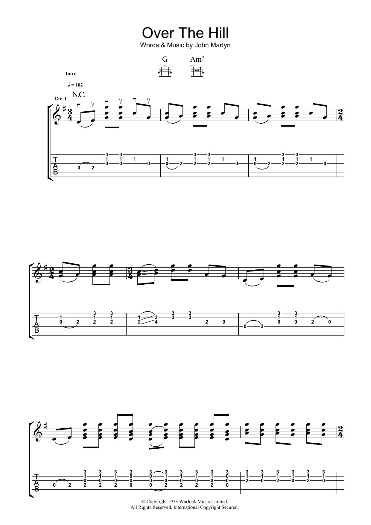 Over The Hill (Guitar Tab)