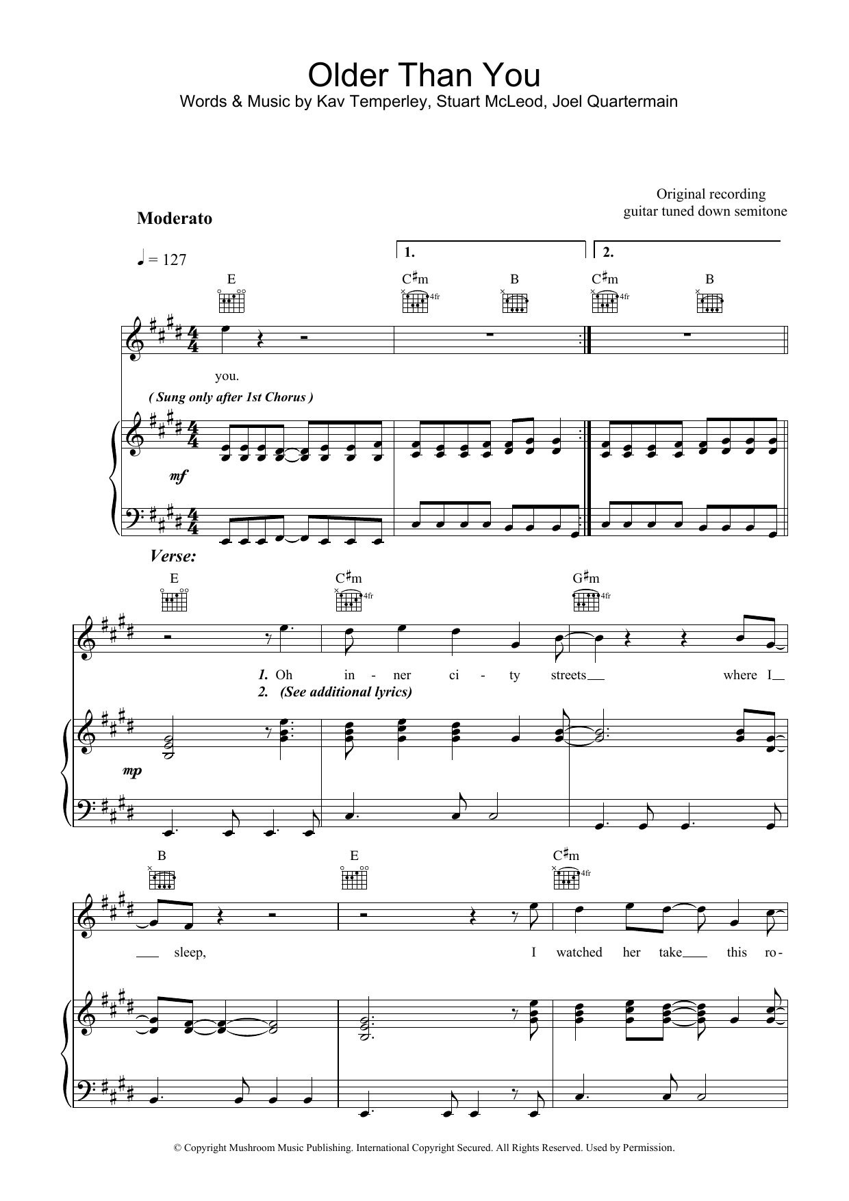 Older Than You Sheet Music