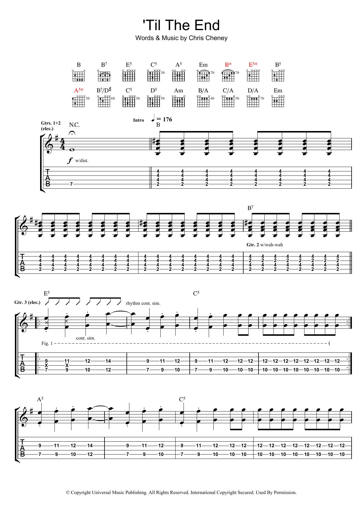 'Til The End (Guitar Tab)