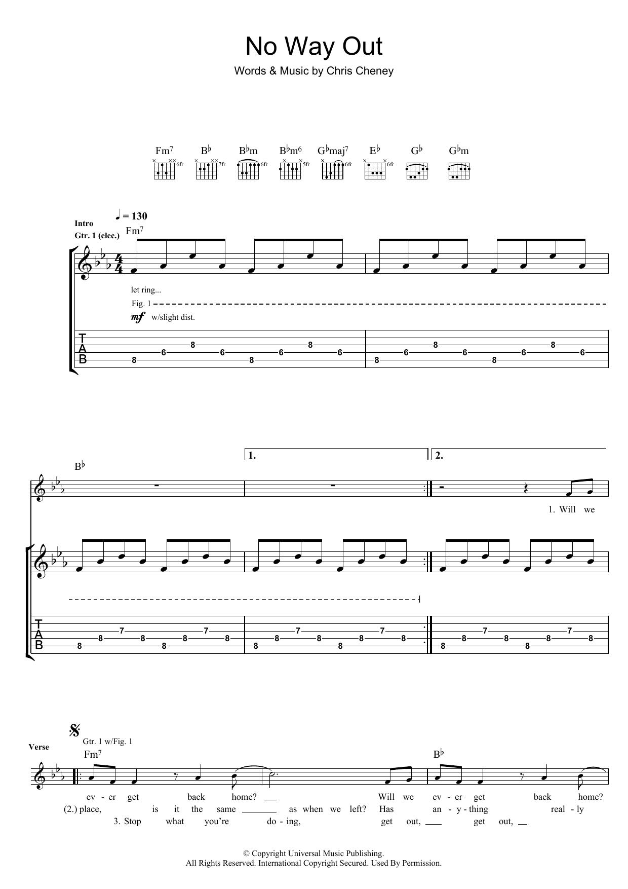 No Way Out (Guitar Tab)