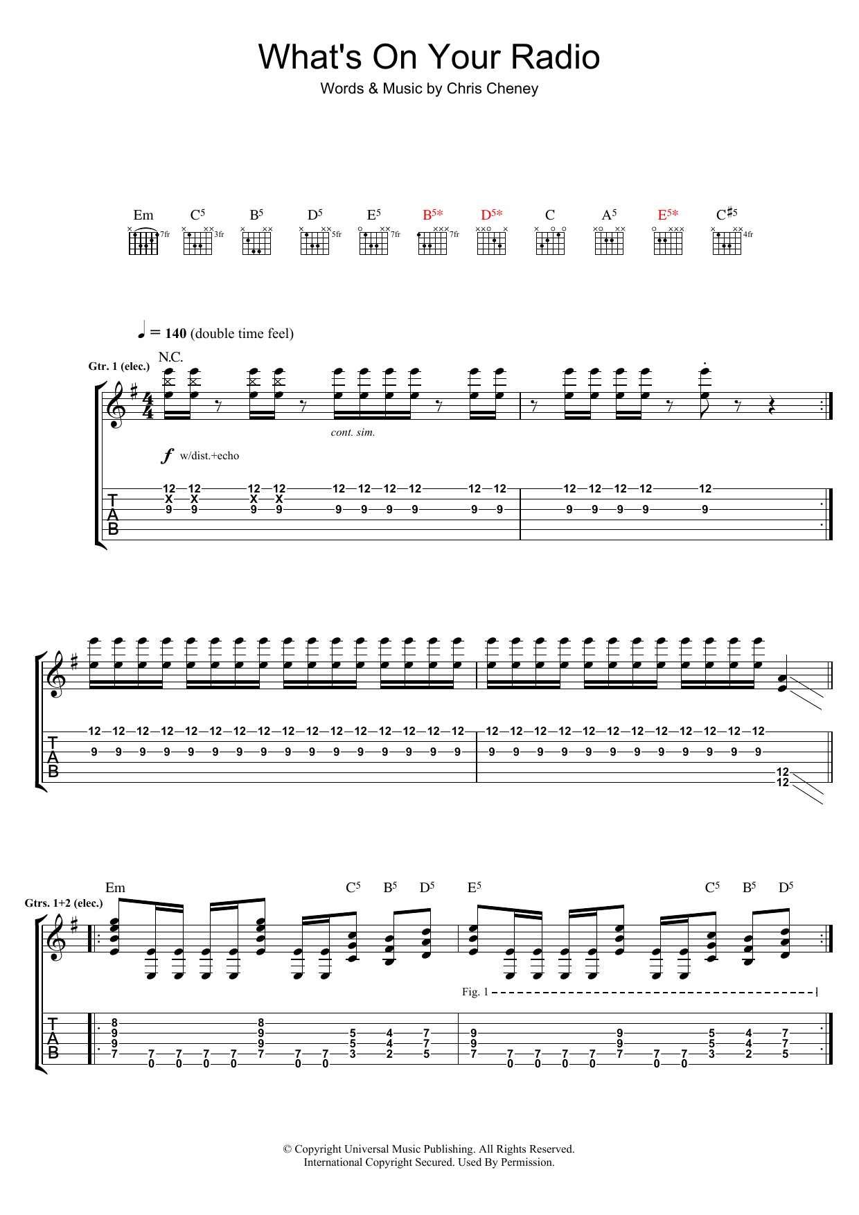 What's On Your Radio (Guitar Tab)