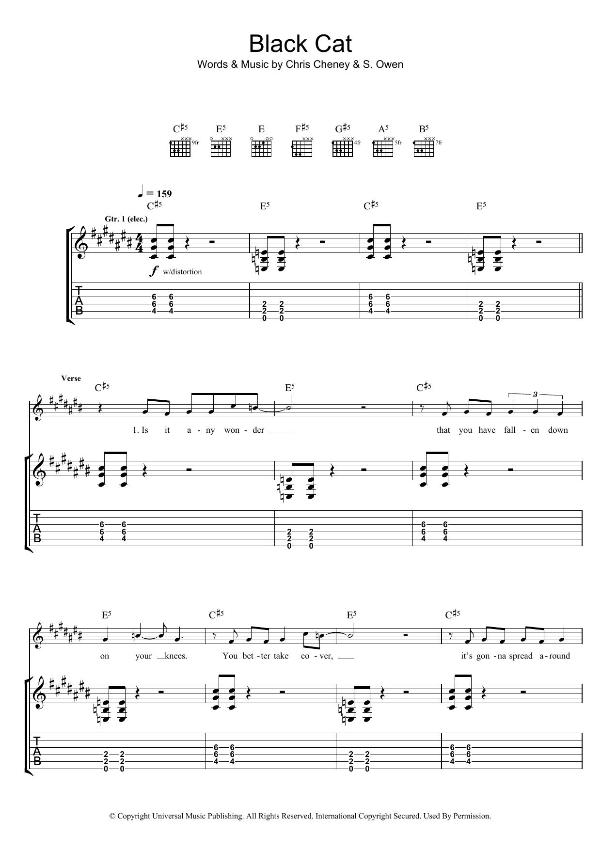 Black Cat (Guitar Tab)