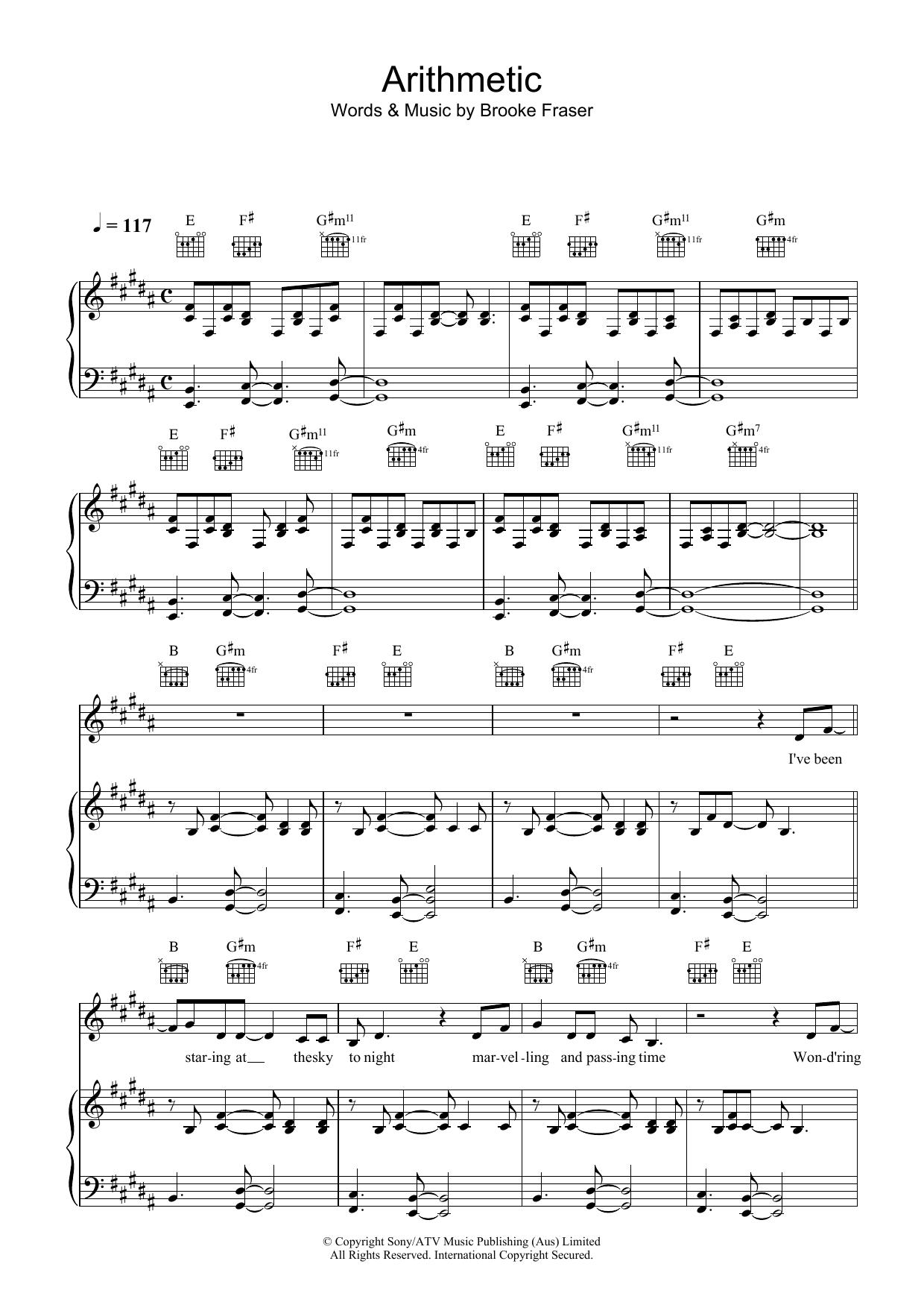 Arithmetic (Piano, Vocal & Guitar)