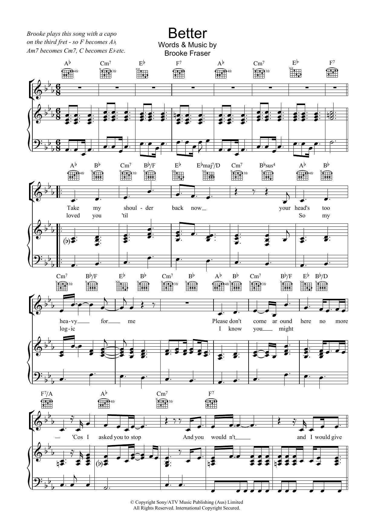 Better (Piano, Vocal & Guitar)