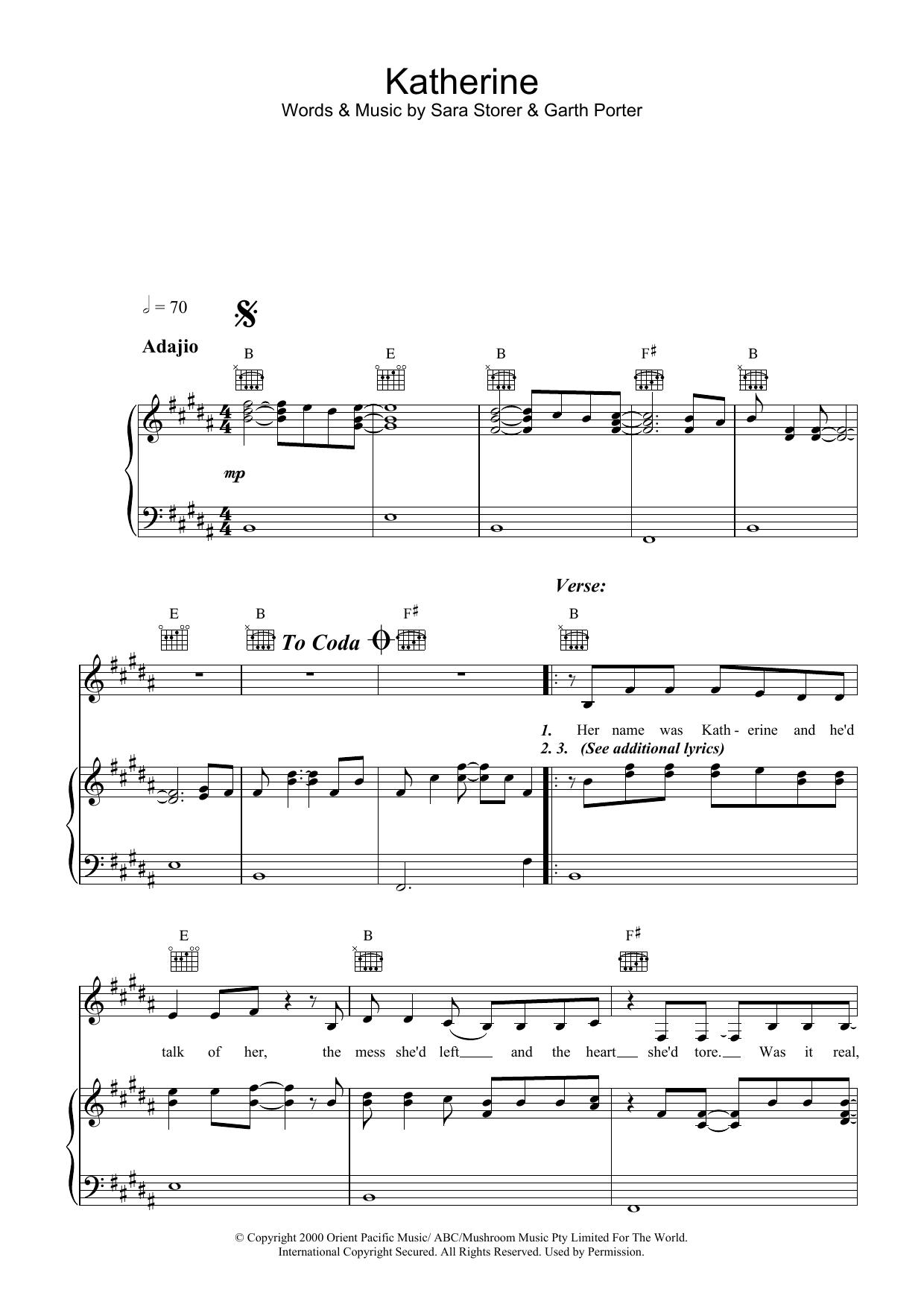 Katherine (Piano, Vocal & Guitar)