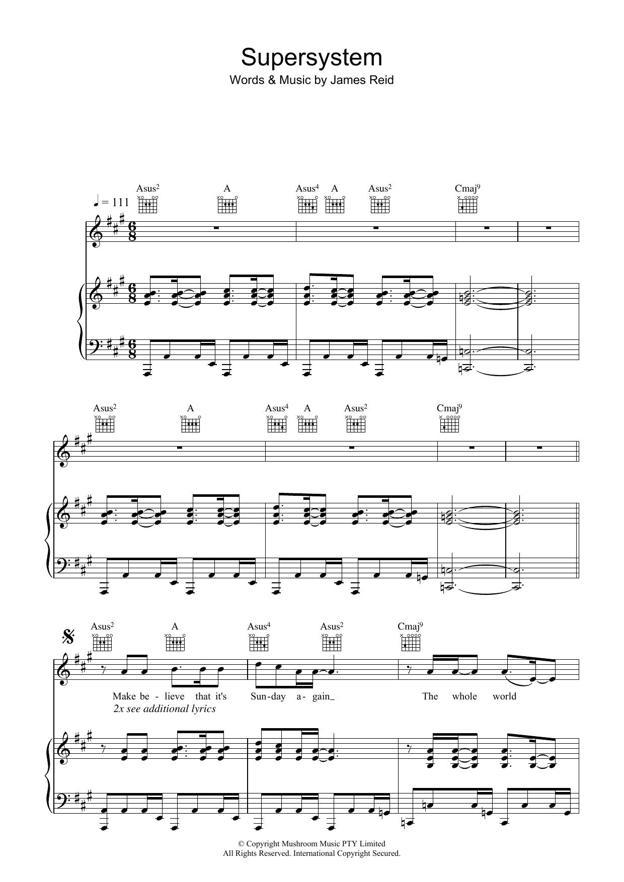 Supersystem Sheet Music