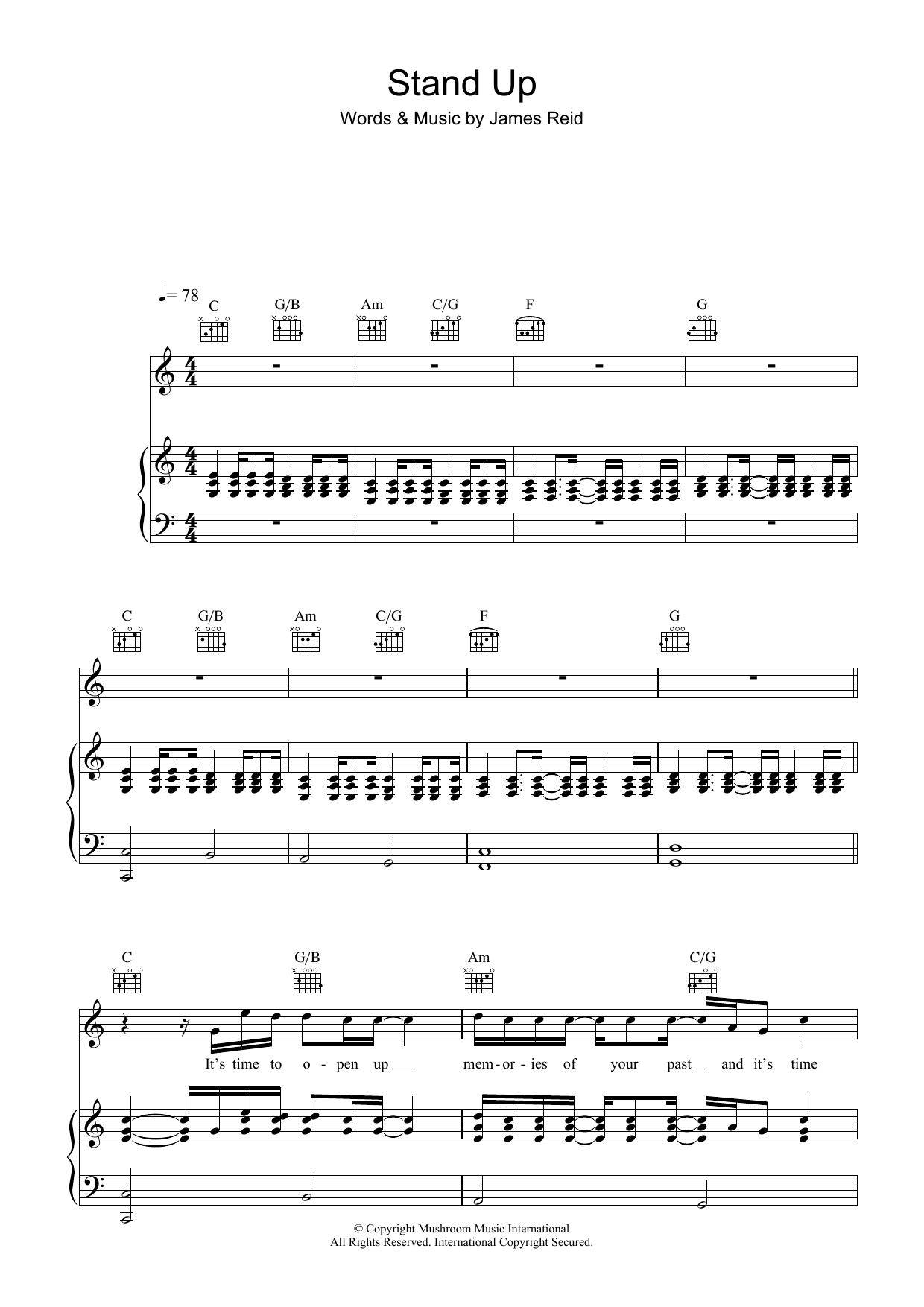 Stand Up (Piano, Vocal & Guitar)