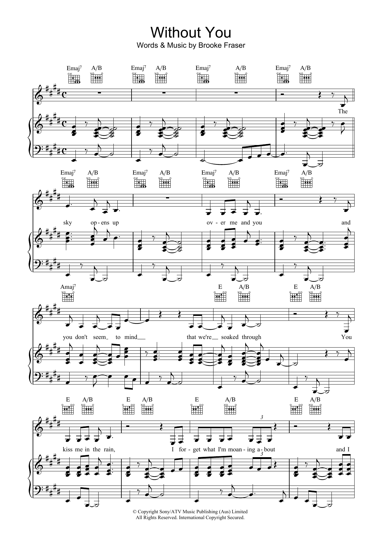 Without You Sheet Music