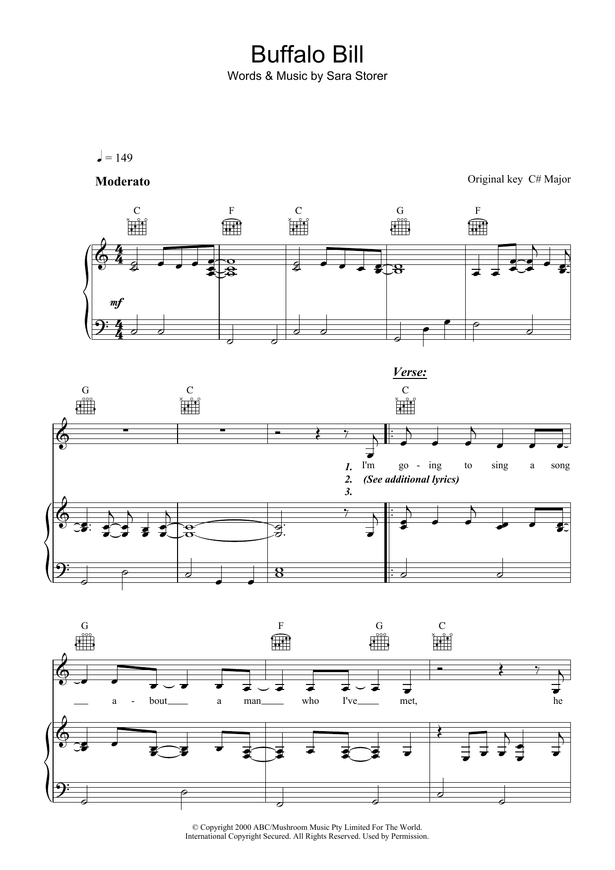 Buffalo Bill Sheet Music