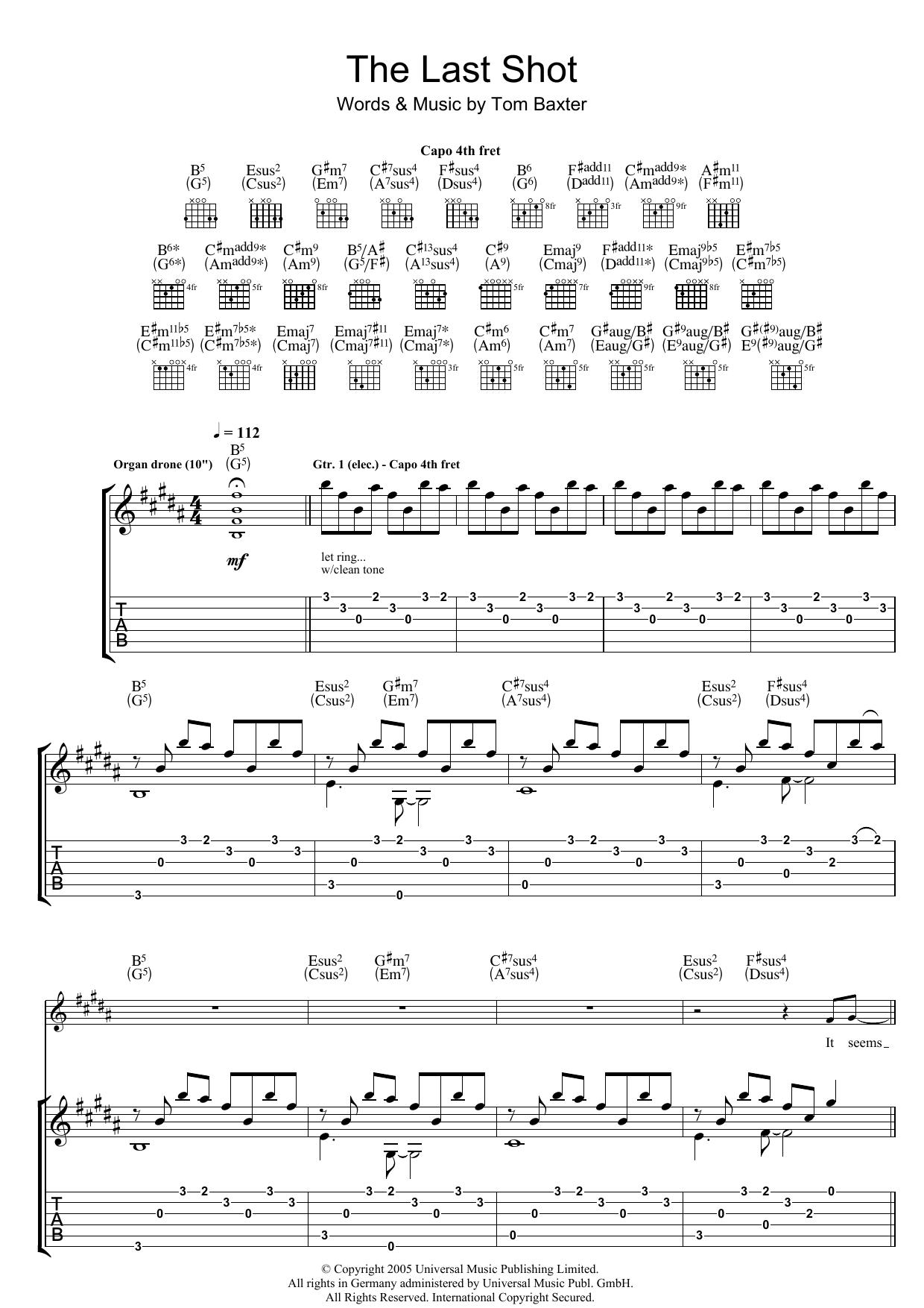 The Last Shot (Guitar Tab)