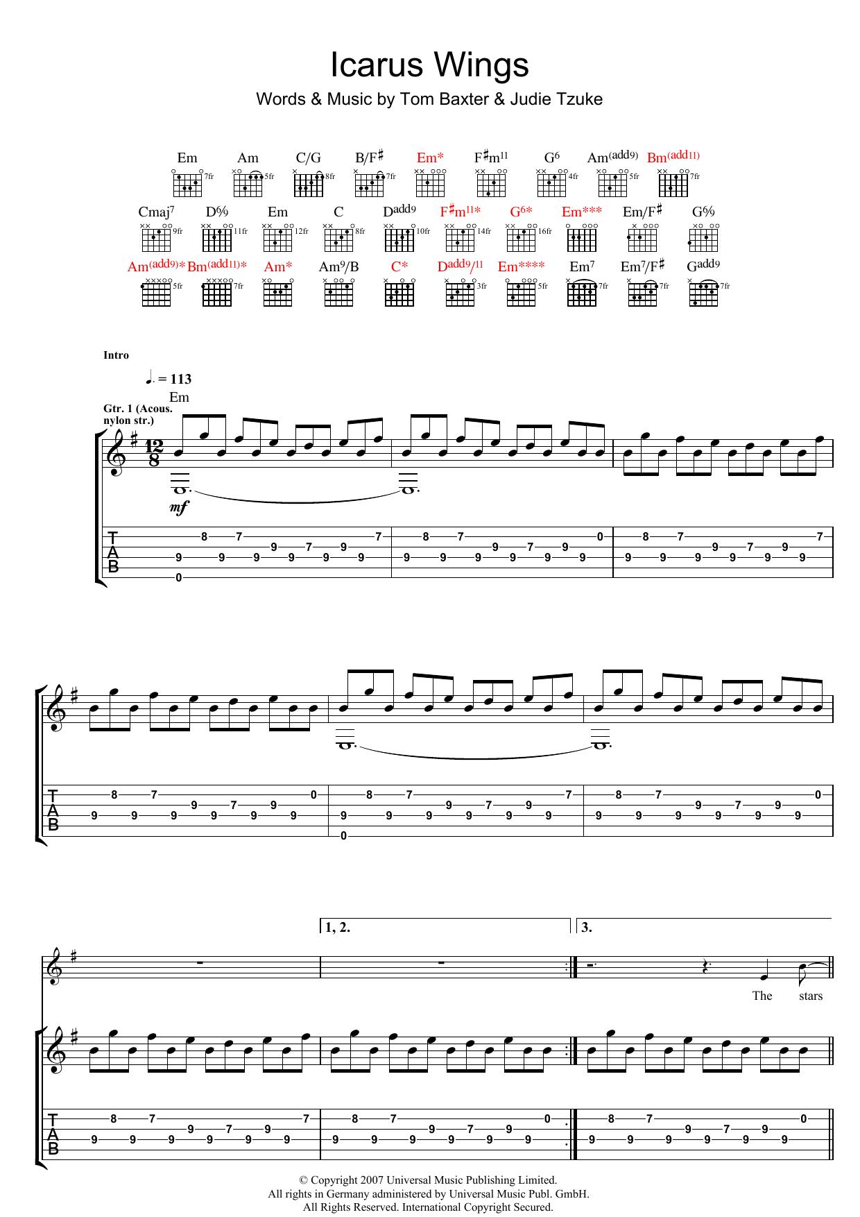 Icarus Wings Sheet Music