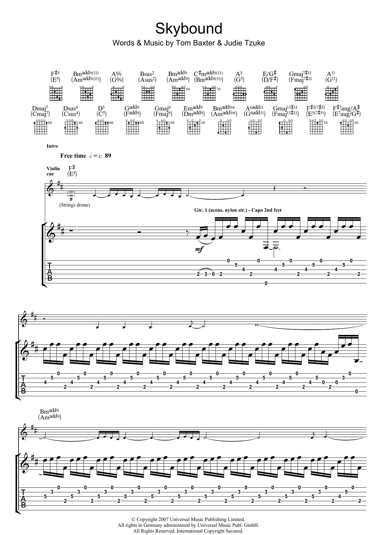 Skybound (Guitar Tab)