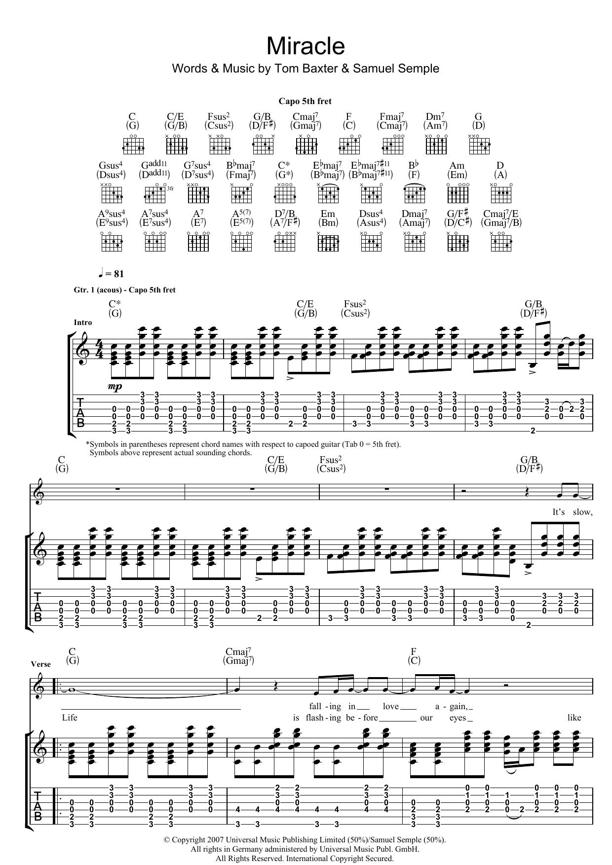 Miracle (Guitar Tab)